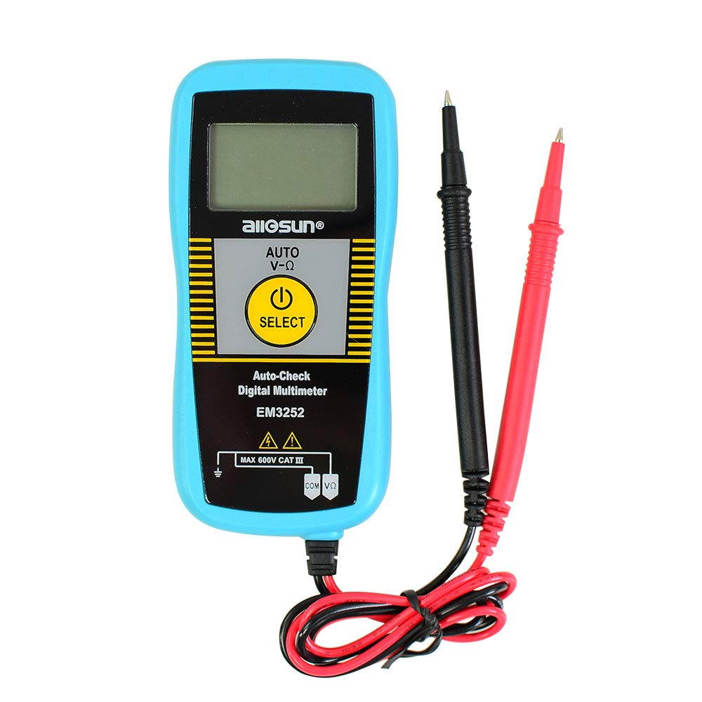 allsun Auto Ranging Pocket Digital Multimeter Non-contact AC Voltage DC Voltmeter Mini Digital Multi Tester Portable Meter 5999 Counts DMM Ohmmeter, Frequency Resistance Capacitance Continuity