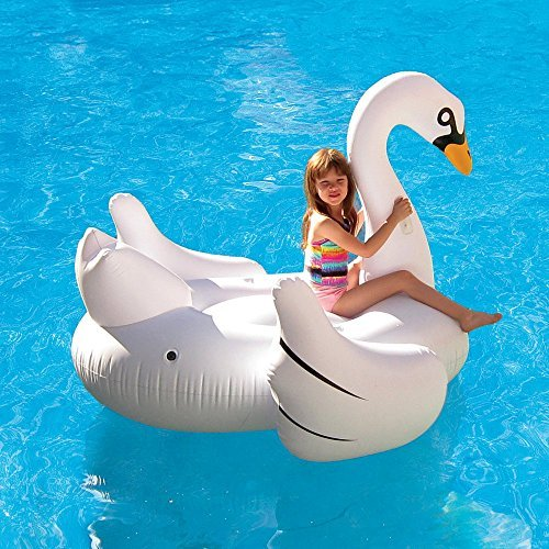 Blue Wave Elegant Giant Swan Inflatable Ride-On Pool Float, 72 by Blue Wave