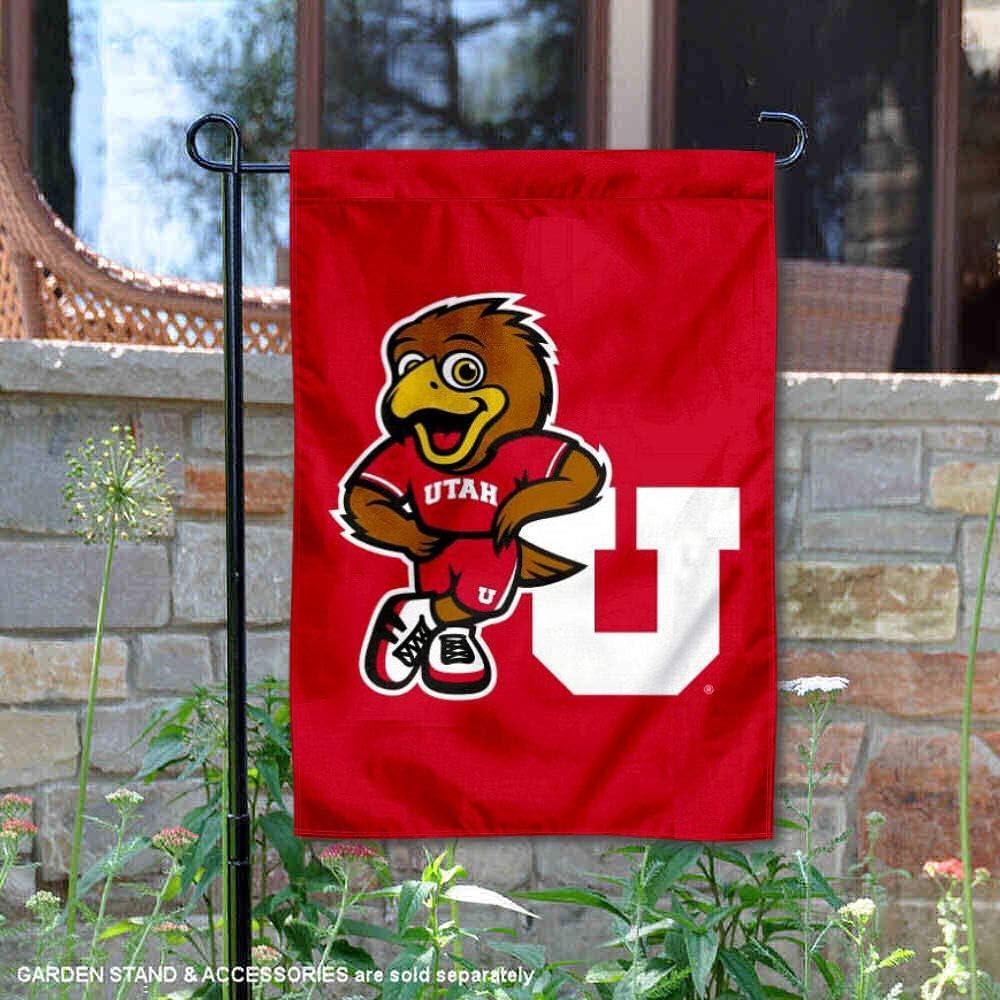 Utah Utes Swoop Mascot Garden Flag College Flags /& Banners Co