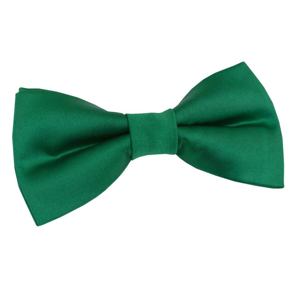 Corbata de fila para hombre, color verde esmeralda, lisa, satén ...
