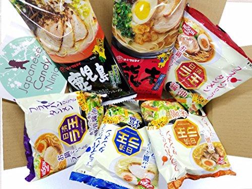 Price comparison product image Japanese Instant Noodles RAMEN BOX 6taste set with original Japanese Candy Ninja sticker
