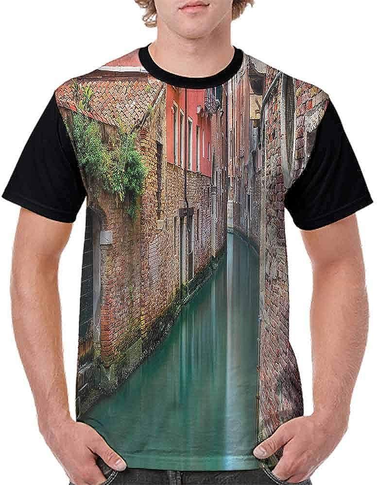 BlountDecor Classic T-Shirt,Morning Twilight Urban Fashion Personality Customization