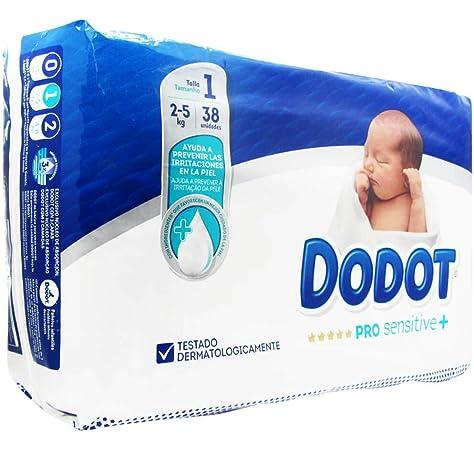 DODOT PRO SENSITIVE TALLA 1 2-5KG 38U: Amazon.es: Bebé