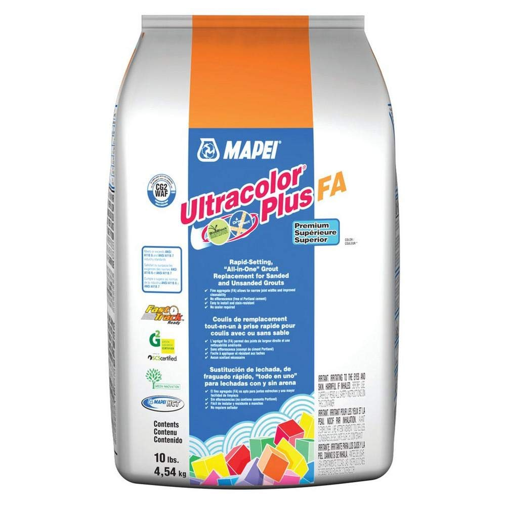 MAPEI Ultracolor Plus FA Powder Grout - 10LB/Bag - (38 Avalanche) by Ultracolor Plus FA (Image #1)