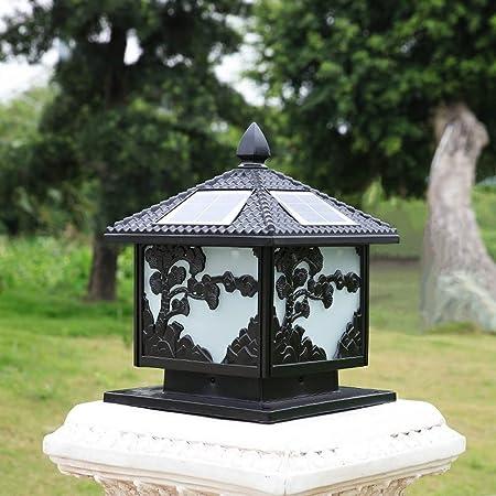 Vinteen Energía Solar Light postal, Pilar Energía Solar caliente de la luz Luz Patio, Jardín, Gazebo