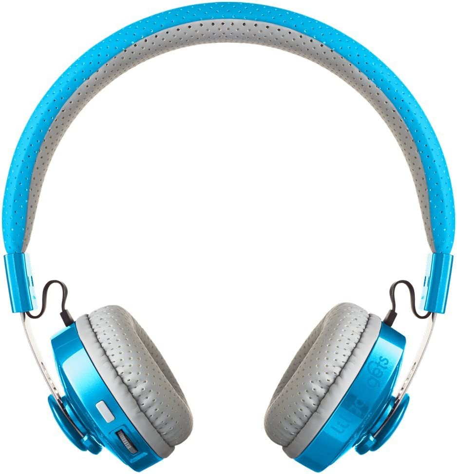 LilGadgets Untangled PRO Kids Premium Wireless Bluetooth Headphones with SharePort and Microphone Children – Blue