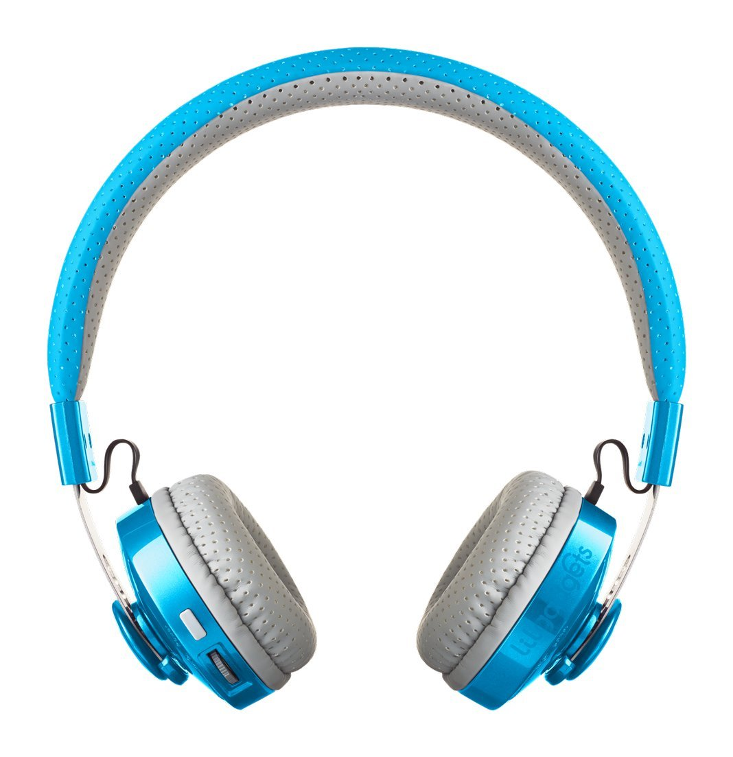 LilGadgets Untangled Pro Premium Children's/Kid's Wireless Bluetooth Headphones with SharePort (Blue)