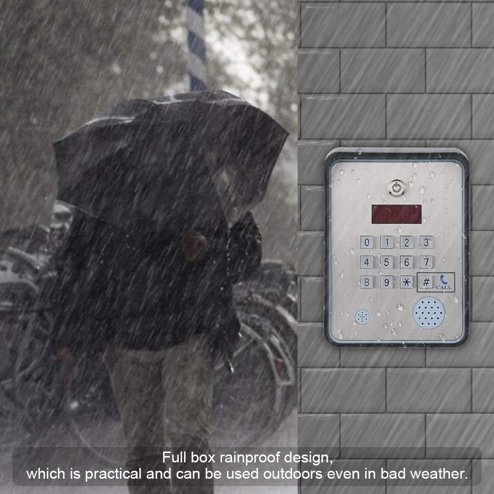 intercomunicador de audio GSM para puerta de puerta Controlador de acceso de seguridad de visitante abierto Controlador de acceso