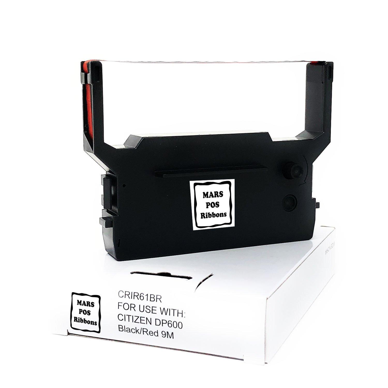 Six Citizen IR61 IR-61 Compatible Black//Red Ink Ribbons Citizen DP600 IDP3550