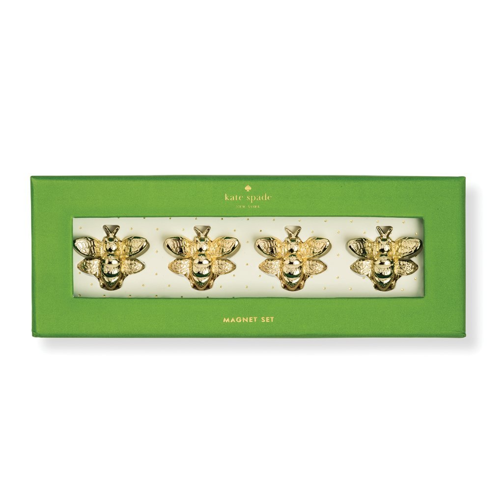 Kate Spade New York Women's Bee Magnet Set, Yellow Gold, One Size