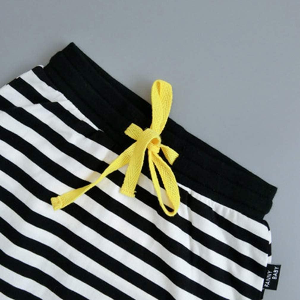 junkai Pantalones Sueltos de Las Muchachas Ni/ños Pantalones Harem de los ni/ños Unisex Costume Ni/ños Pantalones de la Raya de la Longitud Completa para ni/ños Altura 73-110cm