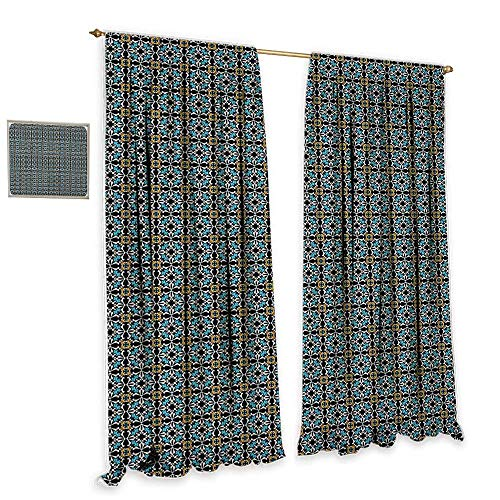 Set 55 Wall Tile - Retro Decor Curtains Abstract Floral Motifs Ornamental and Old Fashioned Mosaic Tile Pattern Vintage Style Home Garden Bedroom Outdoor Indoor Wall Decorations 55