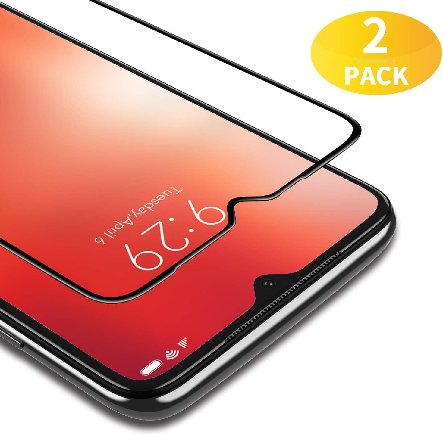 BANNIO Protector de Pantalla Xiaomi Redmi Note 8,2 Unidades Cobertura Completa Cristal Templado para Xiaomi Redmi Note 8 con Kit de Instalación,9H Dureza,Sin Burbujas,Negro