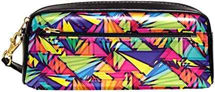 Estuche para lápices Groovy, estilo antiguo, estilo hippie, furgoneta, goteo, pintura arcoíris, para jóvenes de los años 60, color Black08 8