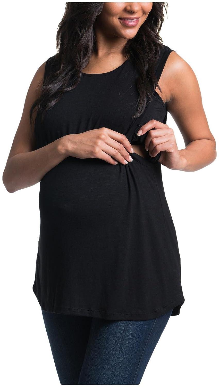 2c916bbb81 Bun Maternity Women's Swing Nursing Tank Top, Black, M: Amazon.com.au:  Fashion
