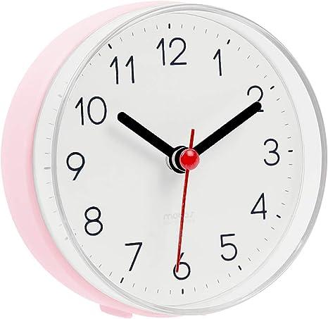 Amazon Com Mooas 2way Silent Waterproof Bathroom Clock Shower Clock Wall Clock Pink Kitchen Dining