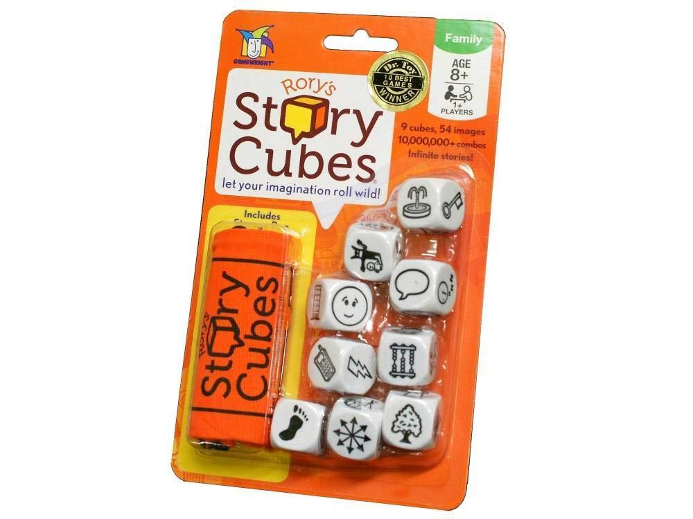 Rory's Story Cube Complete Set - Original, Actions, Voyages, Fantasia Games, & Drawstring Bag by Gamewright (Image #4)