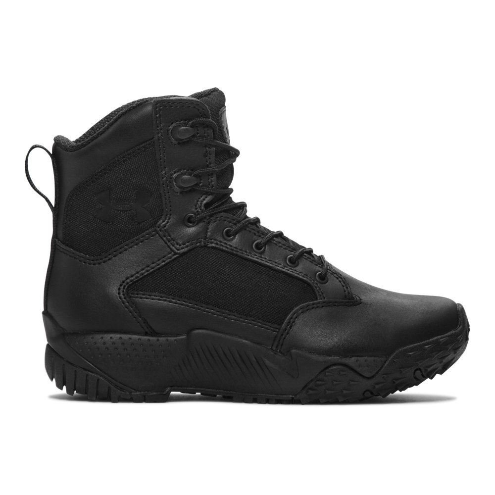 Under Armour Men's Stellar Military and Tactical Boot, Black (001)/Black, 8