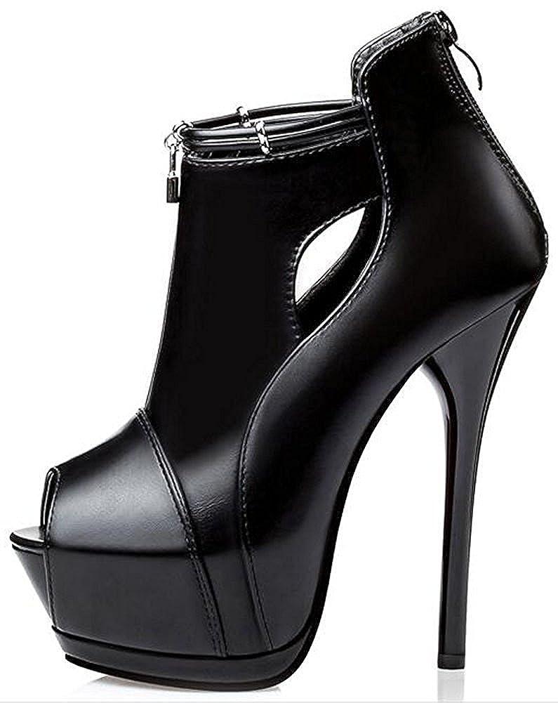 Colnsky Women's Sexy Peep Toe Back Heel Zipper Pumps Stiletto Extreme High Heel Back Platform Ankle Boots B01M64TK1N Boots d76542