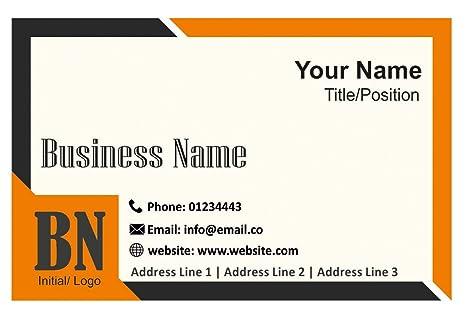 Amazon.com: Tarjetas de visita personalizadas con logotipo ...