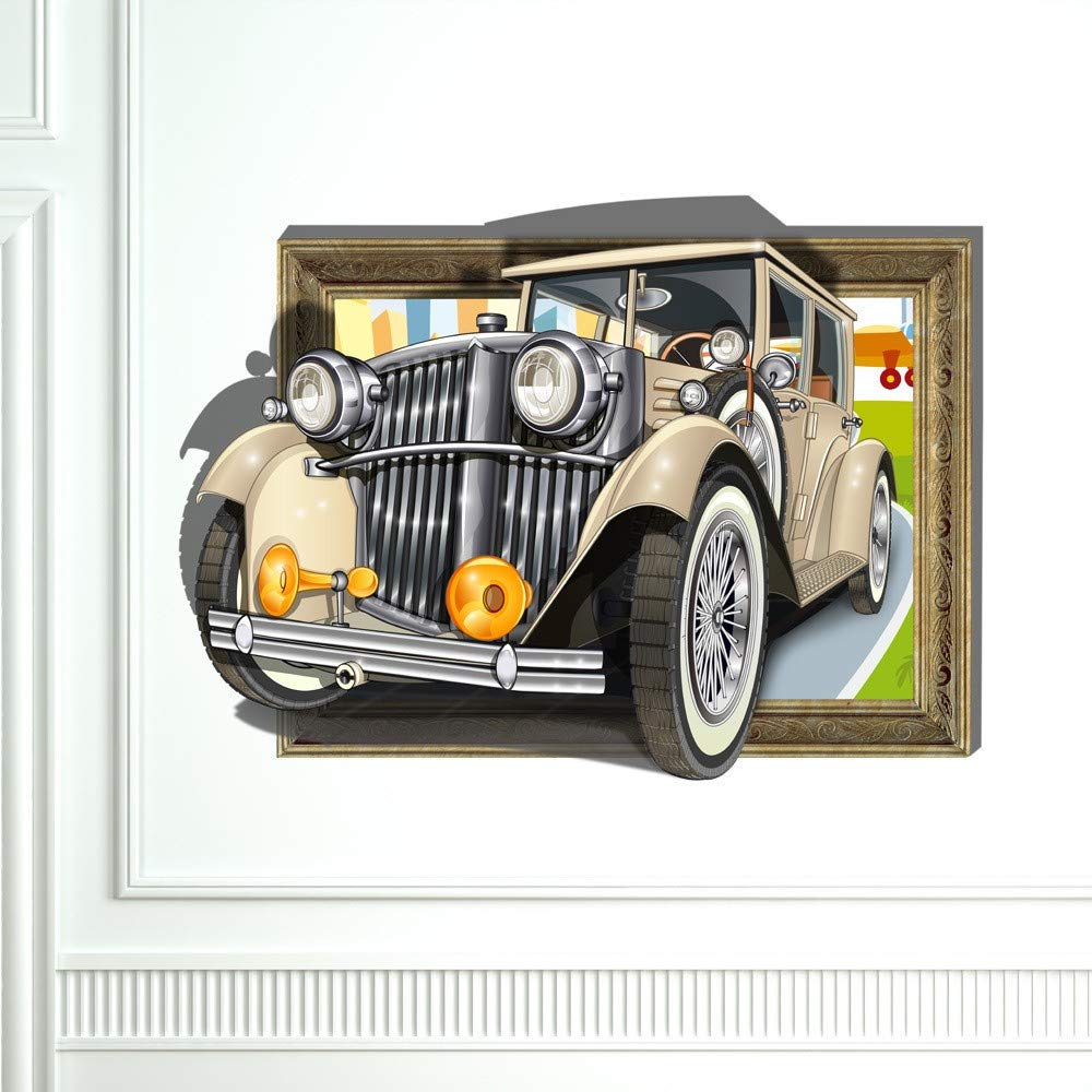Amazon Com Wall Stickers For Bedroom 3d Retro Vintage Car Wall