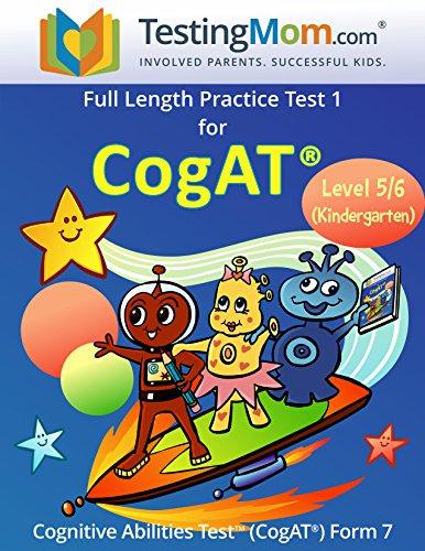 CogAT Test Prep Workbook - Kindergarten (Level 5/6) - Full Length Practice Test (Gifted And Talented Test Questions For Kindergarten)