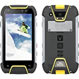 SNOPOW M10 Unlocked 4G LTE IP68 Waterproof Dustproof Shockproof Outdoor Tri-proof Rugged Android Smartphone With DualSIM Powerbank NFC LED Flashlight (Yellow)