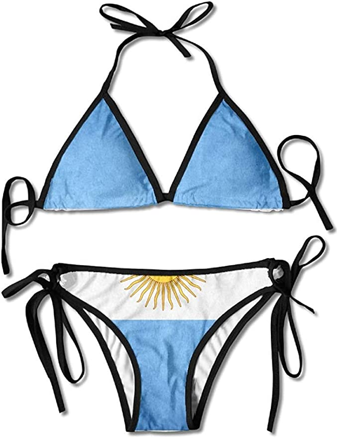 Bikini, Flag of Argentina Bikini Womens Summer Swimwear Triangle ...