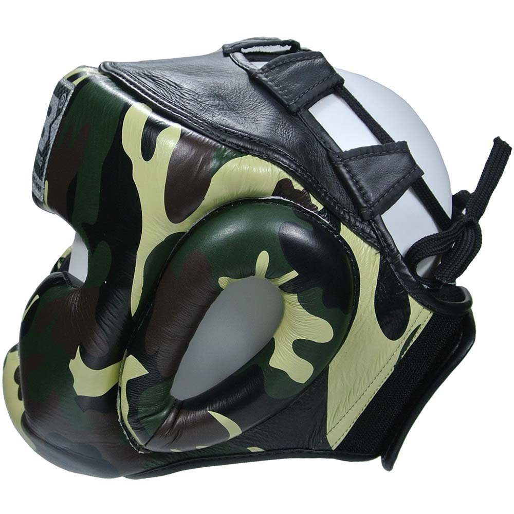 KINGTOP Top King Head Guard Empower Camo Jungle Head Guard Protector Leather MMA