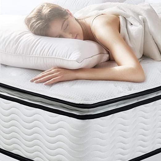 Amazon Com Easeland Twin Xl Mattress Bamboo Pillow Top Hybrid