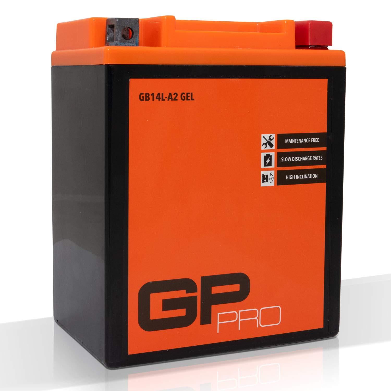 GP-PRO Batterie 12V 14Ah Gel GP-Pro (TYP - CB14L-A2 / GB14L-A2 / ä hnlich YB14L-A2) (versiegelt / wartungsfrei) GP-009