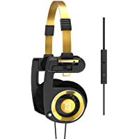 Koss Porta Pro Limited Edition Black Gold On-Ear Headphones, in-Line Microphone, Volume Control and Touch Remote Control…