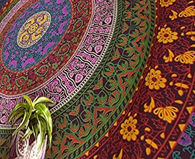 Popular Handicrafts Hippie Tapestry, Hippy Mandala Bohemian Tapestries, Indian Dorm Decor, Psychedelic Tapestry Wall Hanging Ethnic Decorative Tapestry