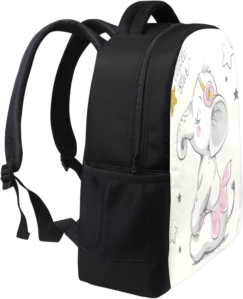 ALAZA Elephant Ballet Casual Backpack Waterproof Travel Daypack School Bag