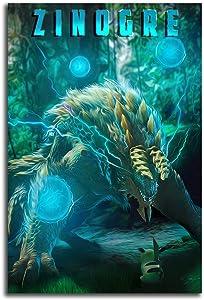 GY Monster Hu_nter Rise Canvas Wall Art 12
