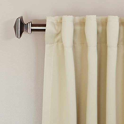 Cozy Beddings Back-Tab Thermal Insulated Curtain Beige Solid Colors 52 W x 63 L Set Pair, 2 Panels