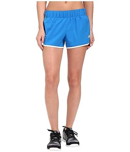 adidas Women's Woven 3-Stripes Shorts Shock Blue/White Shorts XL ...