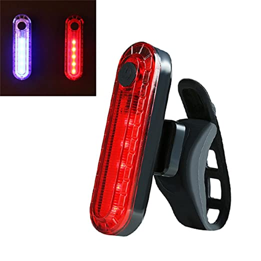 Teepao Luz LED Recargable USB para Bicicleta, Resistente al Agua ...