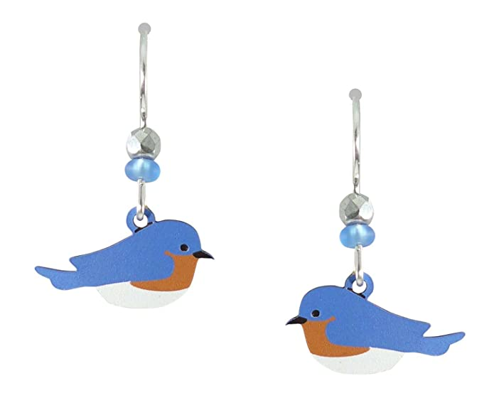 Amazon.com: Sienna Sky Eastern Bluebird Bird Earrings 1184: Dangle ...
