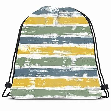 Amazon.com | Ahawoso Gym Drawstring Bags Backpack String Bag ...
