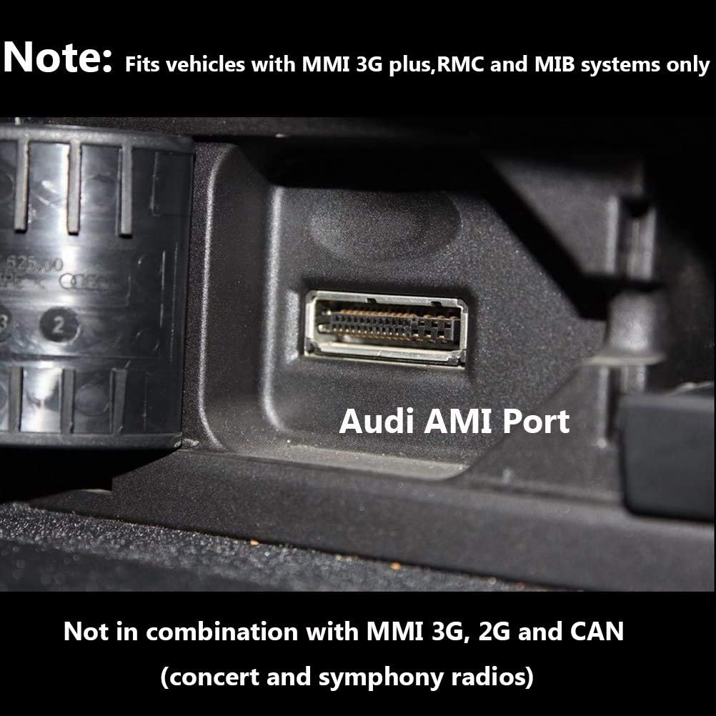 RMC and MIB Infotainment Systems,OEM # 4F0051510AL 4F0051510AD,Yellow Grommet Drimfly Adapter Cable Compatible IPod//IPhone AMI Adapter Cable Compatible With Audi MMI 3G+