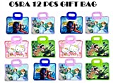 OSRA Shopping Tote Bag For Kids Birthday Return Gift Party Favor (Pack of 12) - Assorted Colour