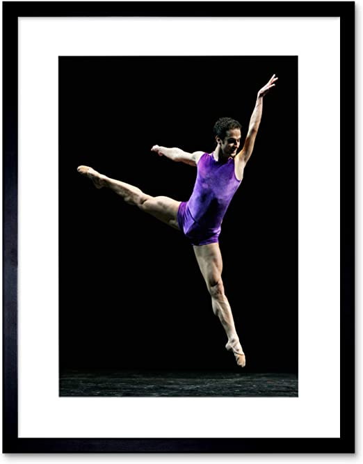 gymnast dancer dance watercolour  Canvas Wall Picture Print ready to hang