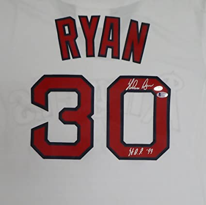 85ecc850e California Angels Nolan Ryan Autographed White Majestic Cooperstown ...