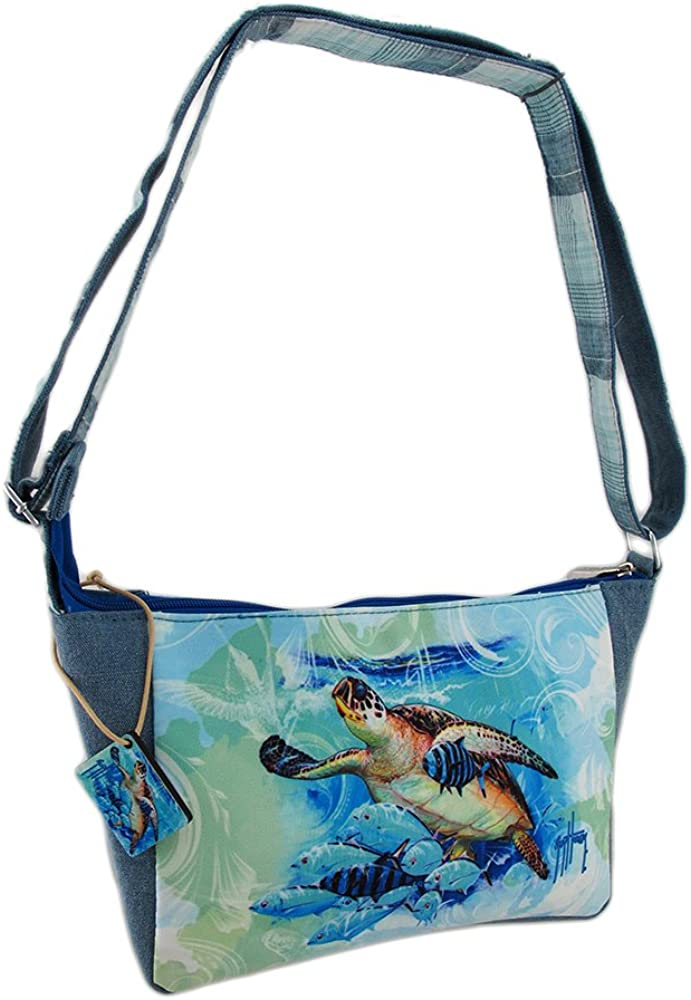 Amazon.com: chavo Harvey Live azul tortuga Cruz Cuerpo Bolsa ...