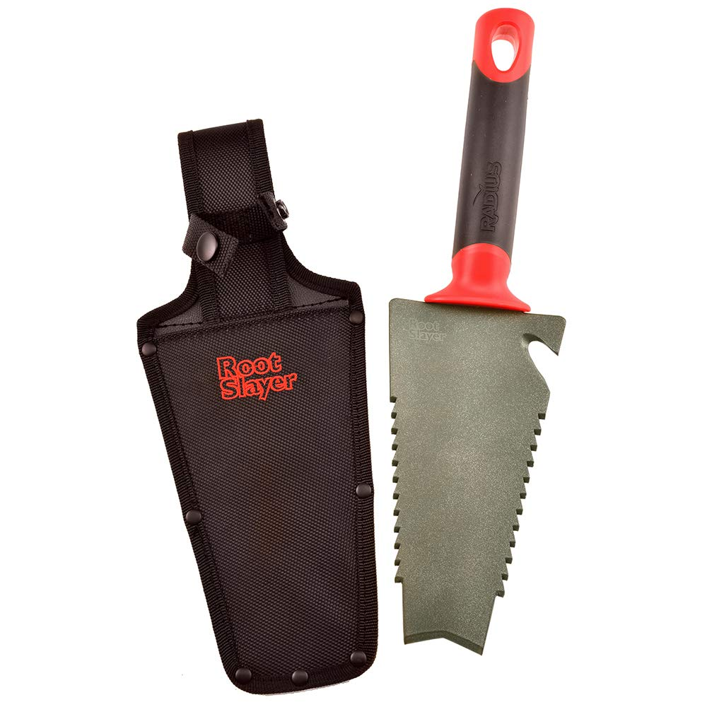 Radius Garden 17011 Root Slayer Trowel with Holster, Red