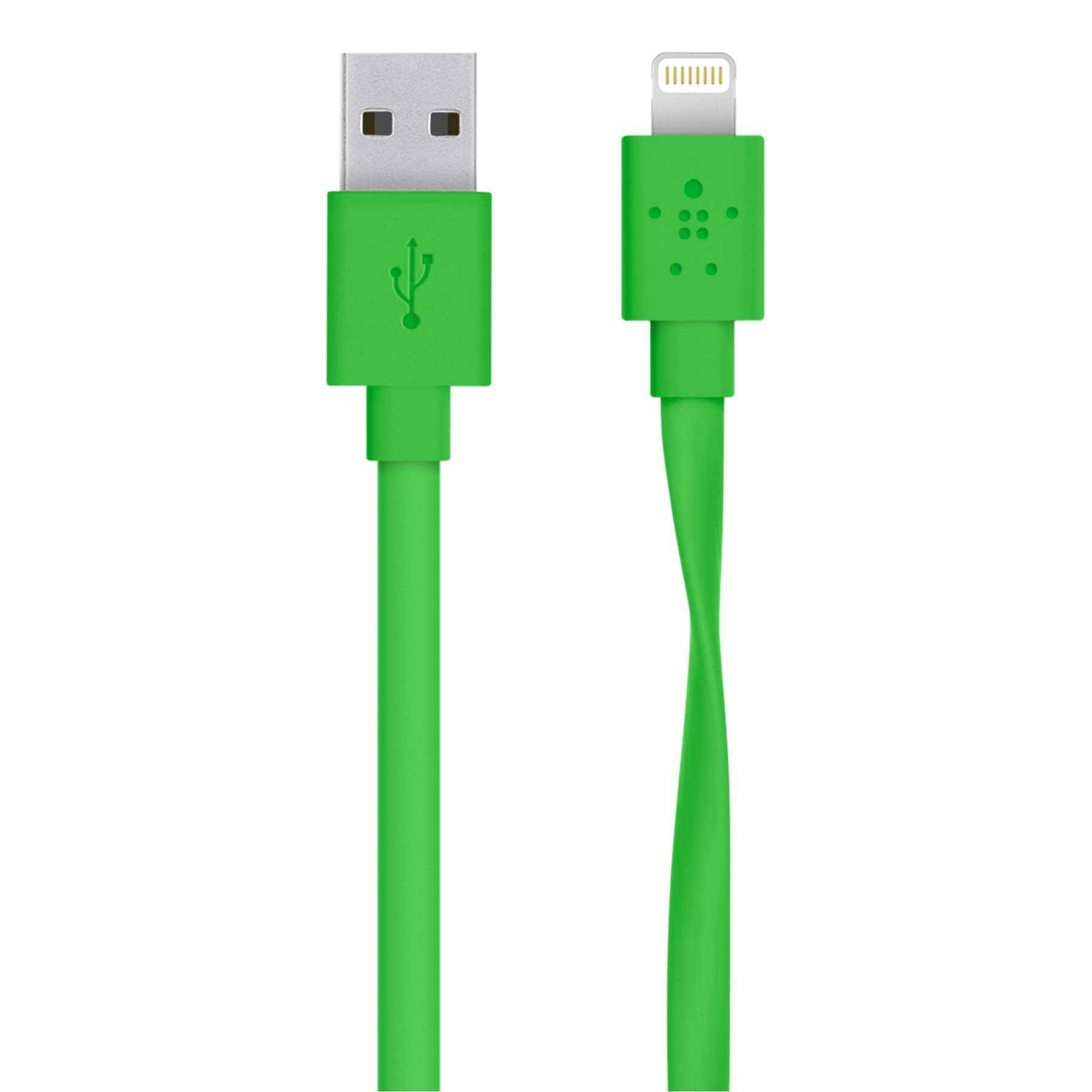 Belkin F8J148BT04-GRN Flat Lightning to USB Cable iPad/iPhone/iPod Charging, Green