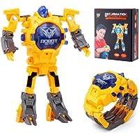 KOBWA Transform Toys Robot Watch, 2 en 1 Reloj Digital electrónico multifunción para niños,