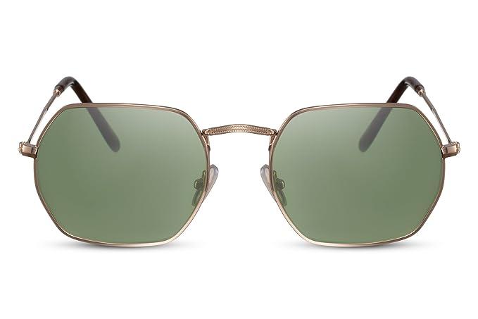 gran descuento cebb8 c7382 Cheapass Gafas de Sol Hexagonales Espejadas Metálicas UV400 Hombre Mujer