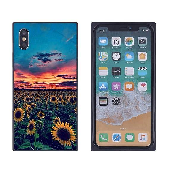 Amazon Com Sunset Sunflower Iphone Xs Max Case Soft
